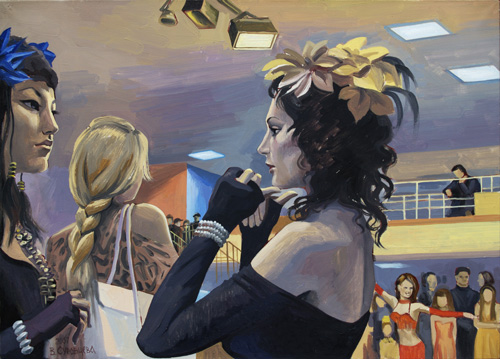Belly dance contest. 2007, oil on canvas, 50x70 cm
