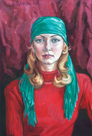 OLYA. 2001, oil on canvas, 60x40 cm