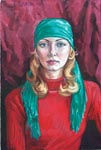 OLYA, 2001, oil on canvas, 60x40 cm
