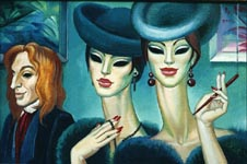 GIRLS OF SOCIETY, 1999, oil on canvas, 40x60 cm