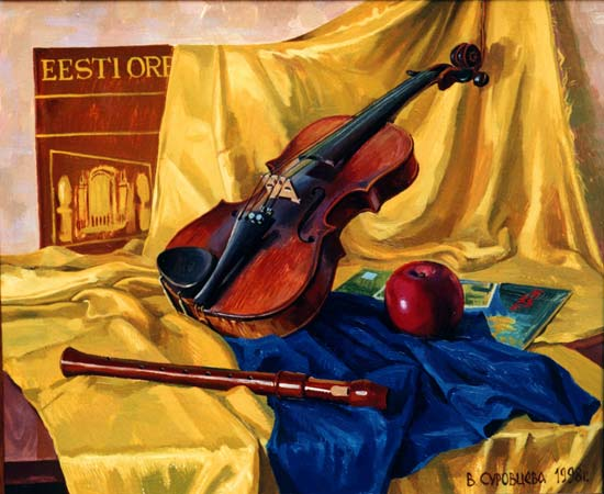 VIOLIN, 1998, oil on canvas, 50x60 cm