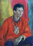 ZHUKOV, 1997, oil on cardboard, 75x55 cm